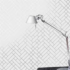 tiles silver white tapet cafe tile002