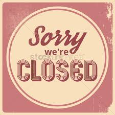 sorry we re closed wallpaper vector