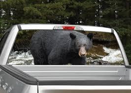 Black Bear Rear Window Graphic Miller Graphics