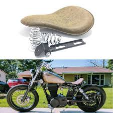 leather motorcycle solo seat spring