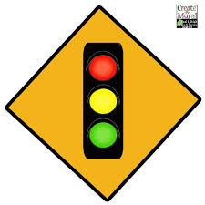Traffic Light Sign Wall Decal For Kids Room Walls