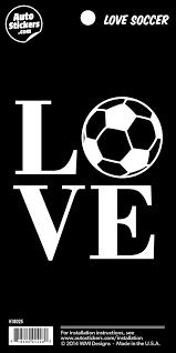 Amazon Com Love Soccer 3 75 Vinyl Car Sticker Decal Automotive
