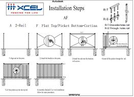 2 Rail Cortina Fence Panels Desain Dan Pasokan Instalasi Xcel