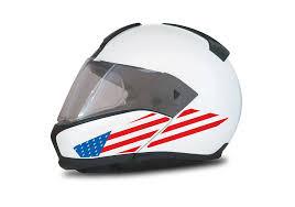Bmw System 6 Helmet White The Flag Series Usa Sticker Signature Custom Designs