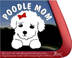 Poodle Mom Puppy Dog Decals Stickers Nickerstickers