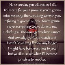 one day you will miss me google search karma quotes