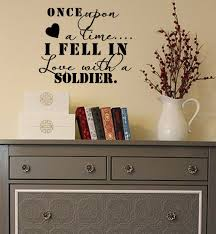 Fell In Love With A Soldier Wall Decal Trading Phrases