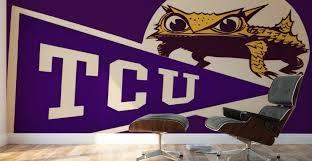 Vintage Tcu Texas Christian Horned Frog Logo Art Row One Brand