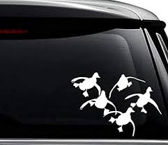 Amazon Com Flying Ducks Hunting Decal Sticker For Use On Laptop Helmet Car Truck Motorcycle Windows Bumper Wall And Decor Size 8 Inch 20 Cm Wide Color Gloss White