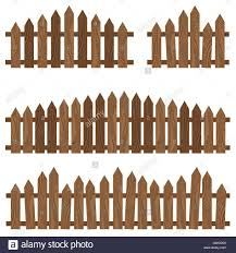 Fence Border Cartoon Decoration Design Enclosure White Stock Vector Image Art Alamy