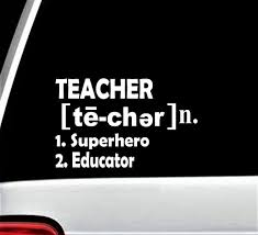 Teacher Decal For Car Window Teacher Appreciation Bg 358 Etsy
