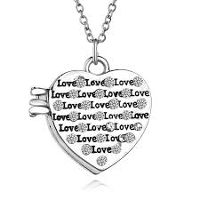 photo locket crystal heart pendant