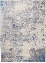 blue ivory grey area rug