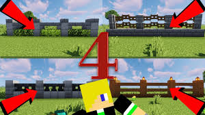 How To Build A Fence In Minecraft 1 15 2 1 16 Four Fence Designs Creative 101 Youtube