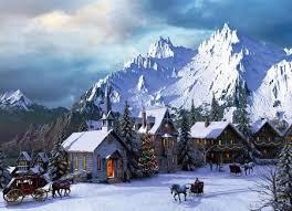 mounn village painting