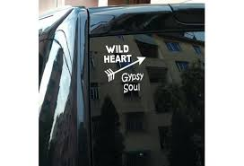 Wild Heart Gypsy Soul Waterproof Reflective Type Car Stickers Motorcycle Stickers Decals Bumper Stickers For Cars Styling Wish