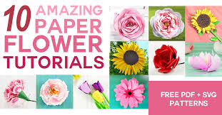 free paper flower svg romes danapardaz co