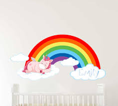 Giant Rainbow Wall Stickers Personalised Large Decals With Name Design Uk Ireland Nz Vamosrayos