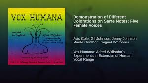 Demonstration of Different Colorations on Same Notes: Five Female Voices -  YouTube