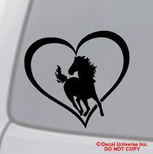 Flamingo Heart Vinyl Decal Sticker Car Window Wall Bumper Bird Love Symbol