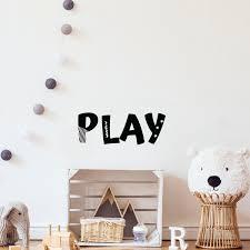 Play Vinyl Decal Playroom Decoration Playroom Vinyl Decal Home Etsy