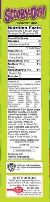 fruit snack nutrition label