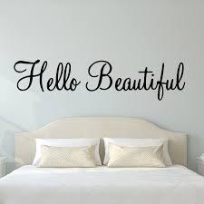 Vwaq Hello Beautiful Wall Decal Inspirational Quotes Beauty Mirror Stickers 2 Version Vwaq 1656 30 W X 8 H Black Walmart Com Walmart Com