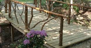 rustic garden structures bridges gates