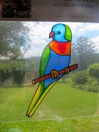 Rainbow Lorikeet Parrot Bird Suncatcher Window Sticker Decal Stained Glass Style Sunshiners Nsw On Madeit