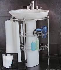 com under pedestal sink storage