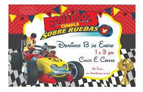 Invitacion Tipo Pizarron Mickey Aventuras Sobre Ruedas 01