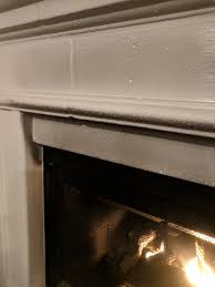 discoloration on gas fireplace mantle
