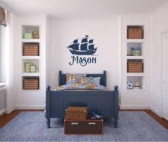 Pirate Ship Boat With Name Vinyl Decal Wall Art Decor Silhouette V2 Airetgraphics