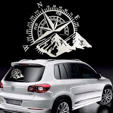 Home Garden View Mirror Decal Compass Navigate Pull Fuel Tank Pointer To Full Car Stickers Decor Decals Stickers Vinyl Art