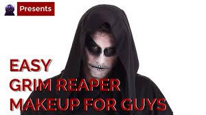 easy grim reaper makeup tutorial for