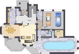Проект жилого дома с бассейном