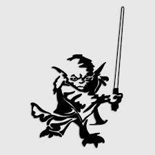 Yoda Jedi Lightsaber Star Wars Decal Window Sticker