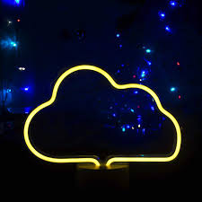 Cloud Neon Sign Neon Night Lights Led Light Up Sign Wall Decor Light For Wedding Sign Birthday Party Camping Kids Room Living Room Bedroom Warm White Amazon Com