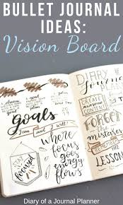 bullet journal vision journal create a journal vision board for