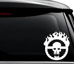 Mad Max Fury Road Skull Flame Vinyl Decal Sticker For Car Truck Motorcycle Window Bumper Wall Laptop Mad Max Store