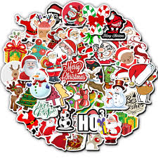 50pcs Christmas Sticker Graffiti Party Decal Stickers Diy Scrapbooking Laptop Luggage Water Bottle Fridge Tablet Bicycle Gyh Stickers Aliexpress