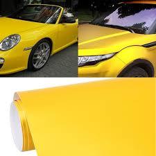 1 52m 0 5m Car Decal Film Auto Modified Vehicle Sticker Vinyl Air Bubble Sticker Electro Optical Film Protective Film Yellow Alexnld Com