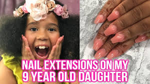 nail extensions on my 9 year old