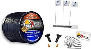 Amazon Com Dog Fence Wire Setup Kit 1000 Feet Of 14 Gauge Wire 100 Training Flags 200 Staples And 2 Pro Grade Splice Kits For 1 Acre Compatible With All