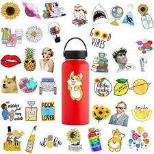 Blppldyci Cute Water Bottle Stickers Laptop And Water Bottle Decal Aesthetic Sticker Pack For Teens Girls Women Vinyl Stickers