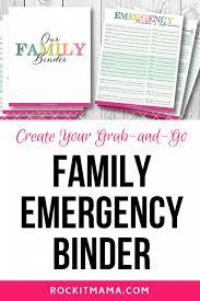 emergency binder free printables