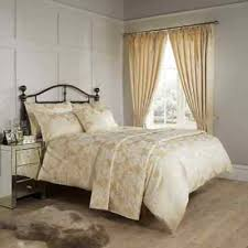 vantona amalfi gold jacquard bedding