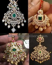 necklace with lakshmi pendant earrings