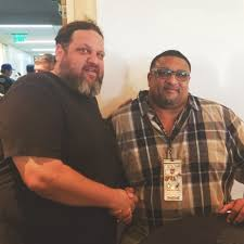 Chef Aaron May with #Saints legend and... - Bullseye Event Group   Facebook