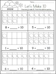 free kindergarten math worksheets for